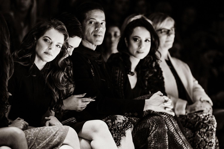 StudioNOW, Lavera, Laufsteg, Mode, Modenschau, Model, Walk, First row, Yvonne Catterfeld, Rumer Willis, Jorge González