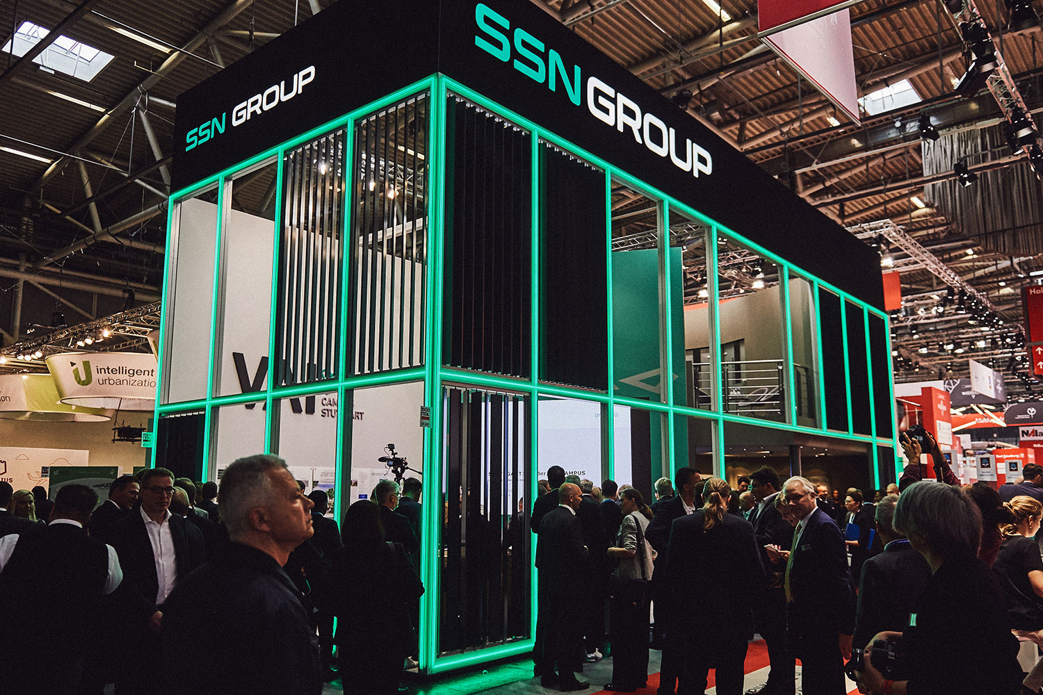 StudioNOW for SSN Group, Expo Real, booth, architecture, people, munich, media