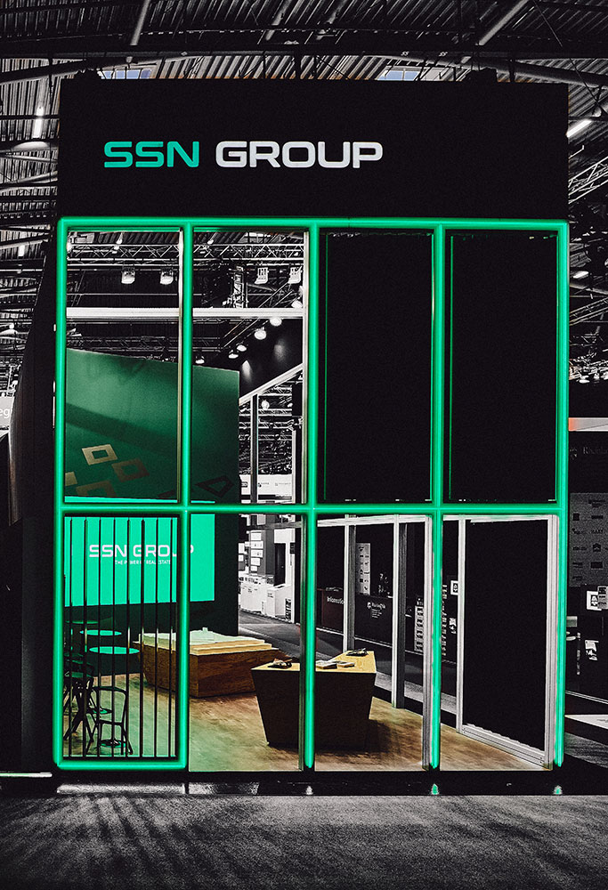 StudioNOW for SSN Group, Expo Real, booth, architecture